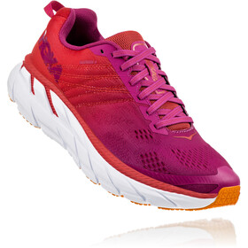 Hoka One One Clifton 6 Chaussures de trail Femme, poppy red/cactus flower